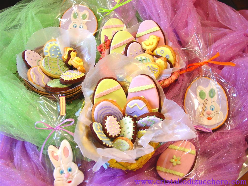 Pasqua cristallo di zucchero - Uova di pasqua decorati ...