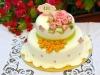 torta decorata con pasta di zucchero per 100 anni