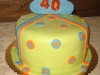 torta decorata 40 anni