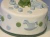 torta decorata battesimo-orsetto-verde
