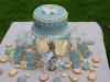 blue vintage cake