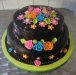 electric-ribbon-flowers-and-choco cake