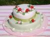 torta decorata fragole