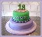 torta decorata lilla e verde