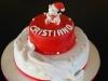 torta battesimo natalizio con orsetto