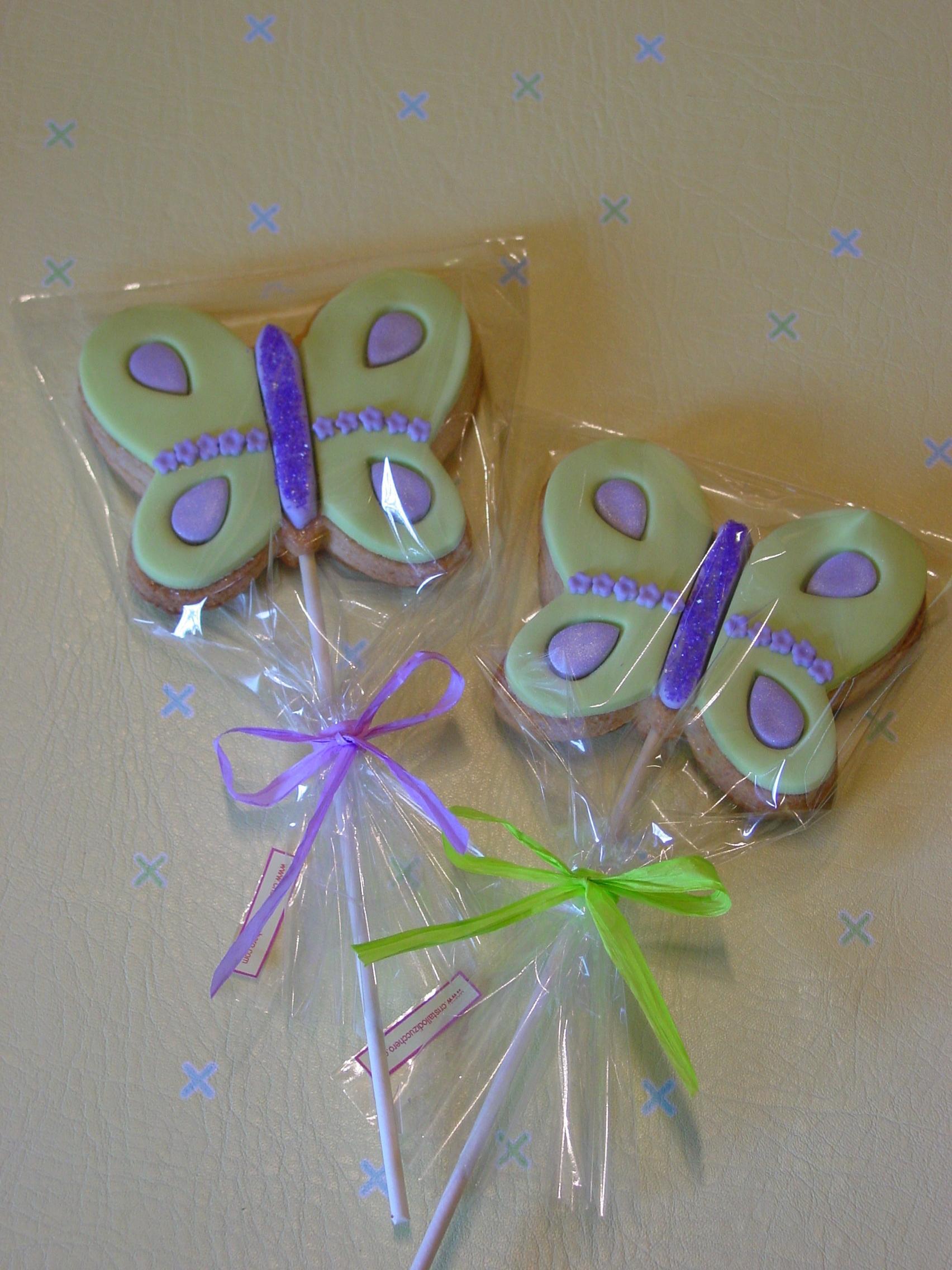 Maxi biscotto lecca-lecca Farfalla