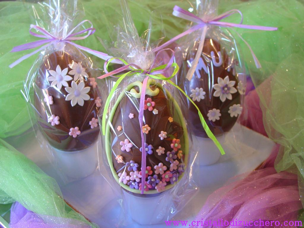 Uova di pasqua decorate cristallo di zucchero - Uova decorate per bambini ...