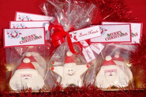 santa cookies  stars